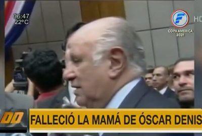 Madre de Oscar Denis fallece sin volver a ver a su hijo