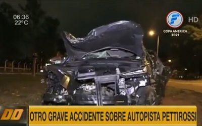 Un nuevo accidente se registra en la autopista Silvio Pettirossi