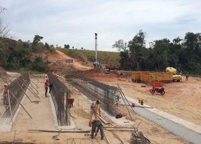 Avanza la construcción de seis puentes de hormigón armado en Canindeyú