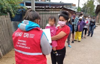 Minna asistió a comunidades vulnerables del barrio Tacumbú