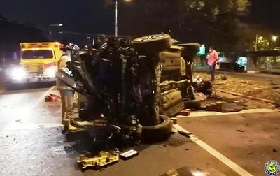 Aparatosos accidentes en la Autopista •