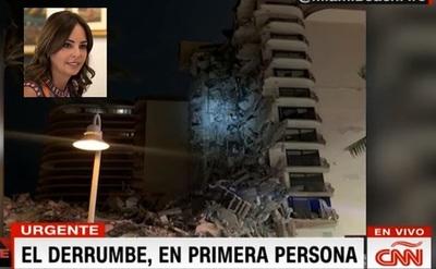 Familia de Primera Dama tiene departamento en edificio que se derrumbó en Miami, hay seis paraguayos desaparecidos