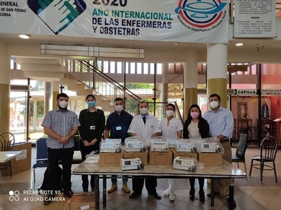 ENTREGAN EQUIPOS BIOMÉDICOS AL HOSPITAL GENERAL DE SAN PEDRO