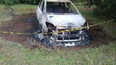 Hallan vehículo incinerado en General Artigas