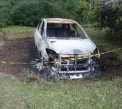 General Artigas: Encuentran un vehículo totalmente incinerado