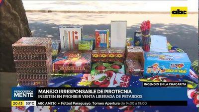 Promulgan ley que prohíbe venta de pirotecnia a menores