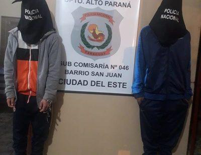 Detienen a dos motochorros en avenida Perú, tras asalto callejero – Diario TNPRESS