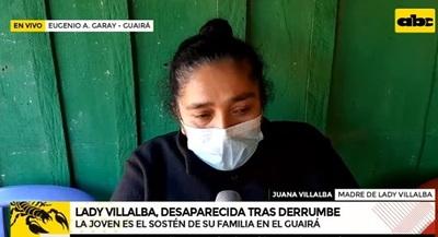 Madre de desaparecida en derrumbe dice que nadie se comunicó con la familia