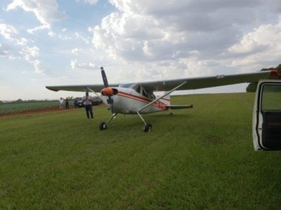 Avioneta tuvo que realizar un aterrizaje forzoso tras problemas técnicos