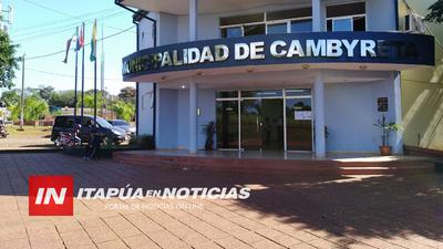 ASUME COMO INTENDENTE INTERINO DE CAMBYRETÁ EL PRESIDENTE DE LA JUNTA MUNICIPAL