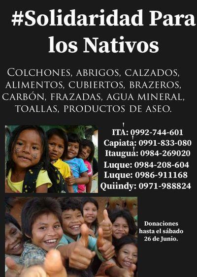 Colecta de abrigos para niños indígenas