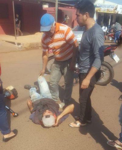 Choque de motociclistas dejó un lesionado y otro fracturado