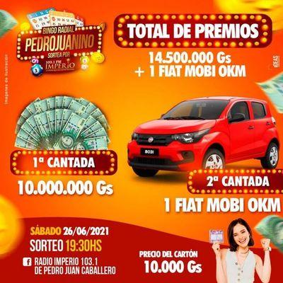 Bingo Radial Pedrojuanino con otro sorteo millonario hoy sábado 26