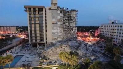 Un gran incendio dificulta las tareas de rescate en el edificio derrumbado de Miami