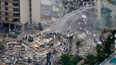 Ya son 5 los fallecidos tras derrumbe de edificio en Miami