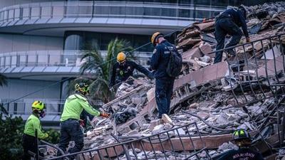 Derrumbe de edificio en Miami: continúan trabajos de búsqueda y rescate