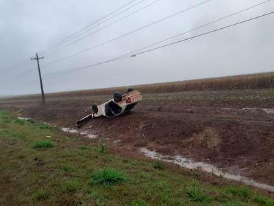 Reportan dos vuelcos de vehículos en Alto Paraná