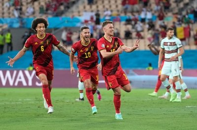 Bélgica da el golpe y elimina a la Portugal de CR7