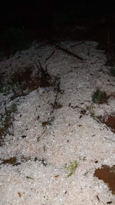 El granizo, factor común de las lluvias de invierno