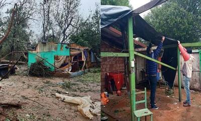 Más de 1000 viviendas fueron afectadas por fuerte temporal en el departamento del Caaguazú – Prensa 5