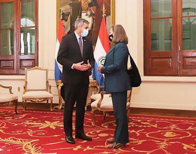 Presidente Mario Abdo se reúne con la Viceministra de Estado para Asuntos Políticos de los EE.UU (Video)