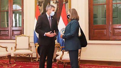 Mario Abdo recibe a viceministra de Asuntos Políticos de EEUU
