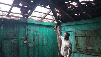 Unas 400 viviendas afectadas tras fuerte temporal en Caaguazú