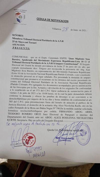 ANR: suspenden juzgamiento de actas de Villarrica