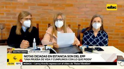 Familia Denis confirma que notas dejadas en estancia son del EPP