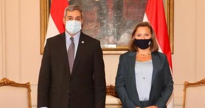 """La Nación / """"Vienen a darnos un apoyo muy importante"""", dice González sobre visita de alta autoridad de EEUU"""