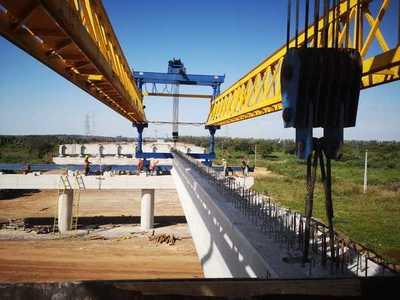 Iniciaron lanzamiento de vigas pretensadas en el viaducto de acceso al Puente Héroes del Chaco