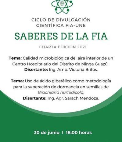 Organizan IV edición de Divulgación Científica «