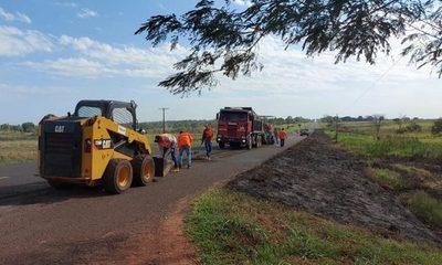 Inician trabajos de rehabilitación del tramo Yby Yaú – Pedro Juan Caballero