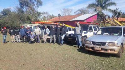 Electricistas de Caaguazú se suman a trabajos de la ANDE para reponer suministro tras temporal