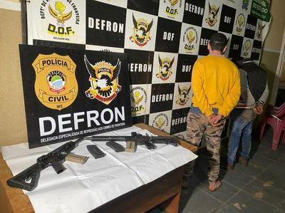 Paraguayos son detenidos con dos fusiles en Brasil