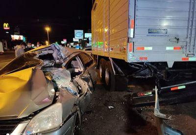 """En aparatoso accidente, """"milagrosamente"""" sólo se registraron heridos"""