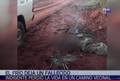 Frío polar se cobra una vida en Yaguarón