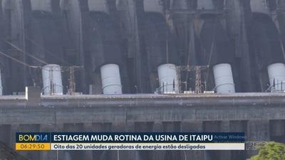 OCHO unidades generadoras de ITAIPU están paradas por la SEQUIA