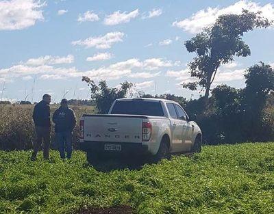 Abandonan camioneta con chapa brasileña, tras persecución policial