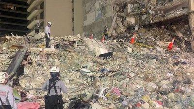 """Derrumbe en Miami: """"Ninguno de los seis compatriotas ha sido localizado"""""""