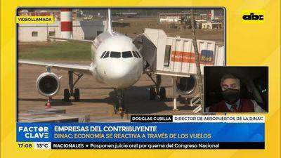 Las empresas públicas son del contribuyente: Dinac, economía se reactiva a través de los vuelos