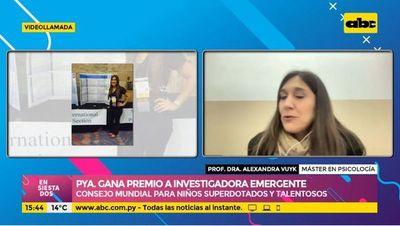Paraguaya gana premio a investigadora emergente