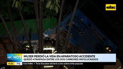 Mujer perdió la vida tras aparatoso accidente