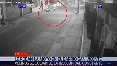 Trabajador sufre robo de dos motos en solo 15 días