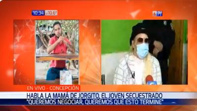 "Mamá de Jorge Ríos: ""Estamos dispuestos a negociar"""