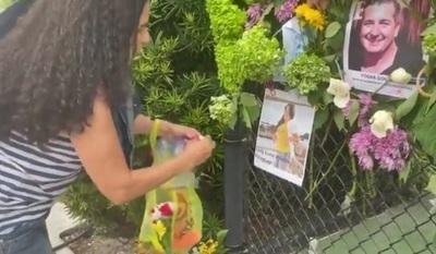 Colocan foto de Leidy Luna Villalba en mural de desaparecidos en Miami