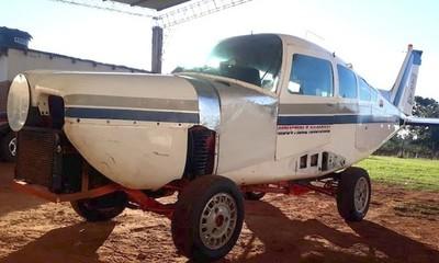Itapúa: «Auto-avión», el raro vehículo que es sensación