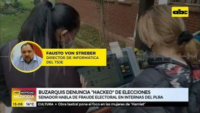 Buzarquis denuncia hackeo de elecciones