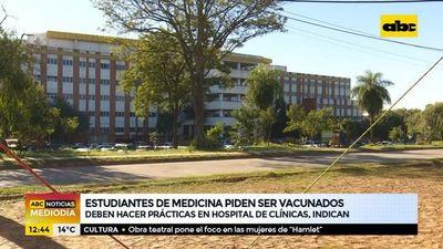 Estudiantes de Medicina piden ser vacunados contra la Covid