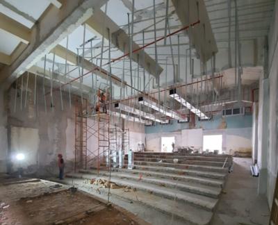 Avanzan las obras de restauración del edificio histórico del Puerto de Asunción